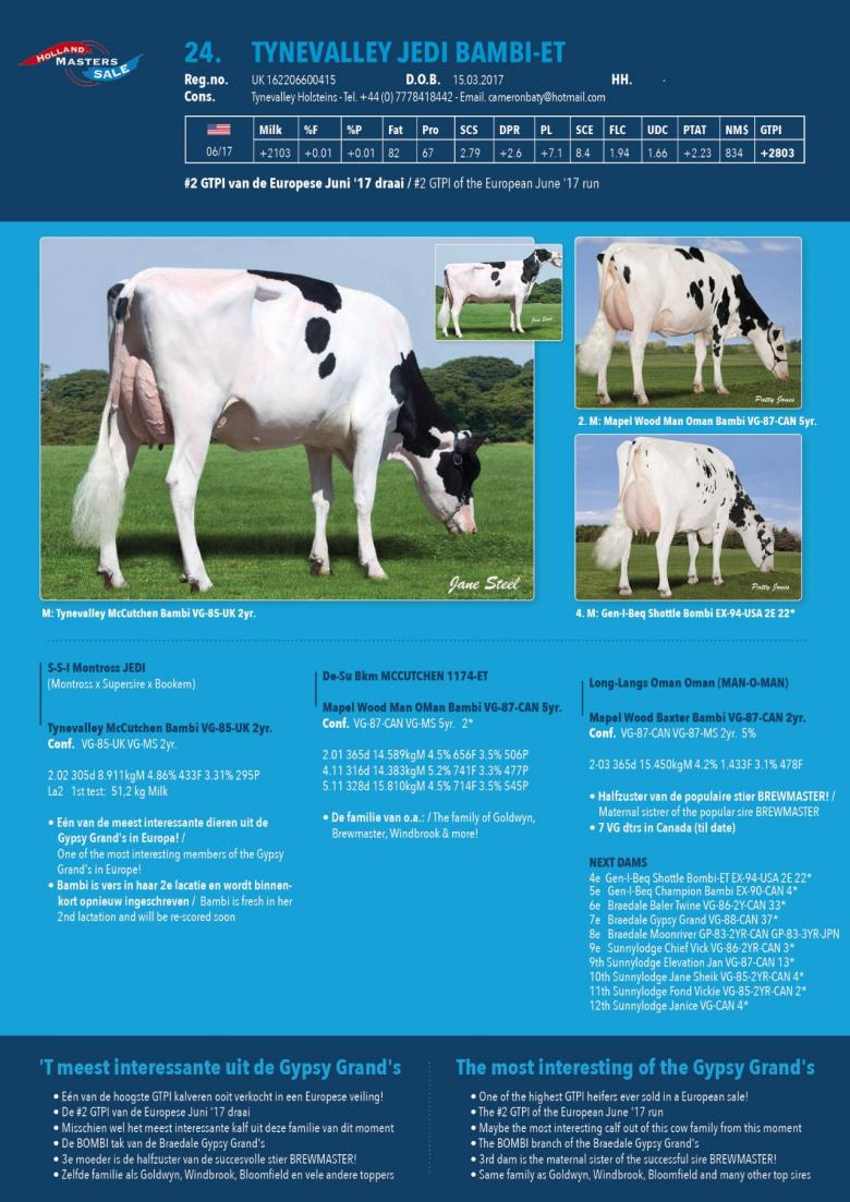 Datasheet for Tynevalley Jedi Bambi-ET