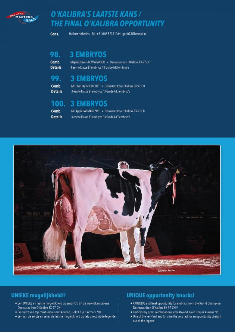 Datasheet for #3 Embryos: Mr. Apples ARMANI *RC x Decrausaz Iron OKalibra EX-97-CH