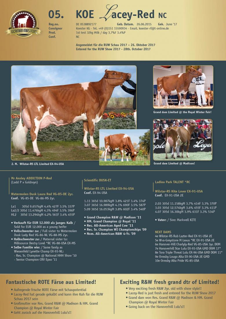 Datasheet for Lot 5. KOE Lacey-Red NC