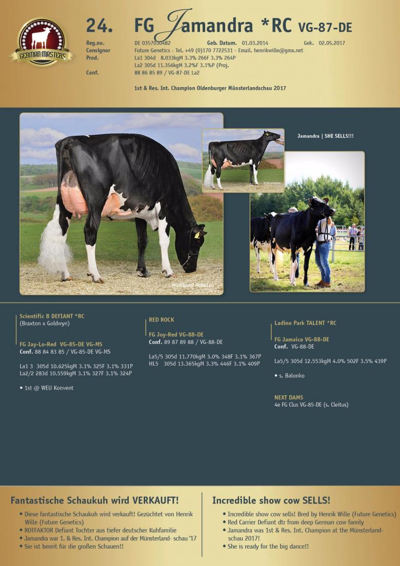 Datasheet for Lot 24. FG Jamandra *RC VG-87-DE