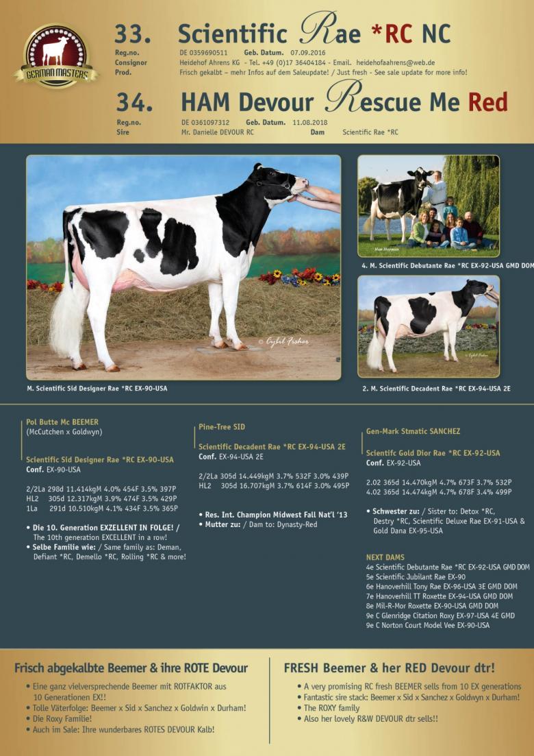 Datasheet for Lot 33. Scientific Rae *RC NC