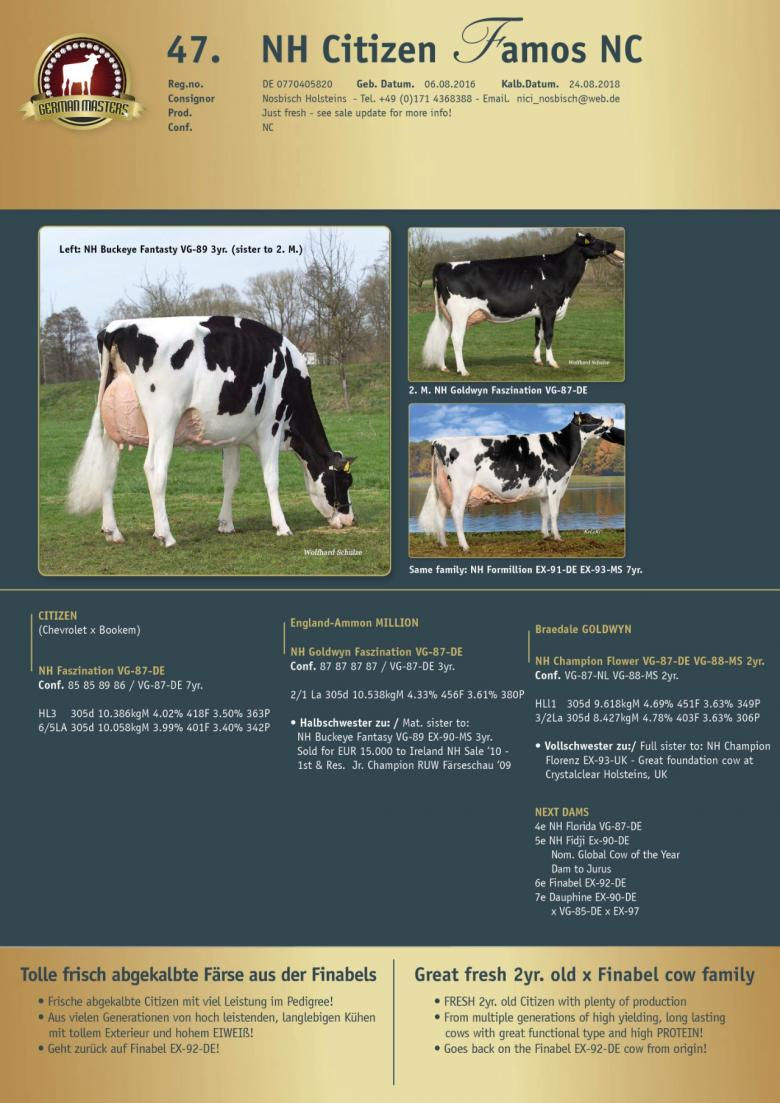 Datasheet for Lot 47. NH Citizen Famos NC