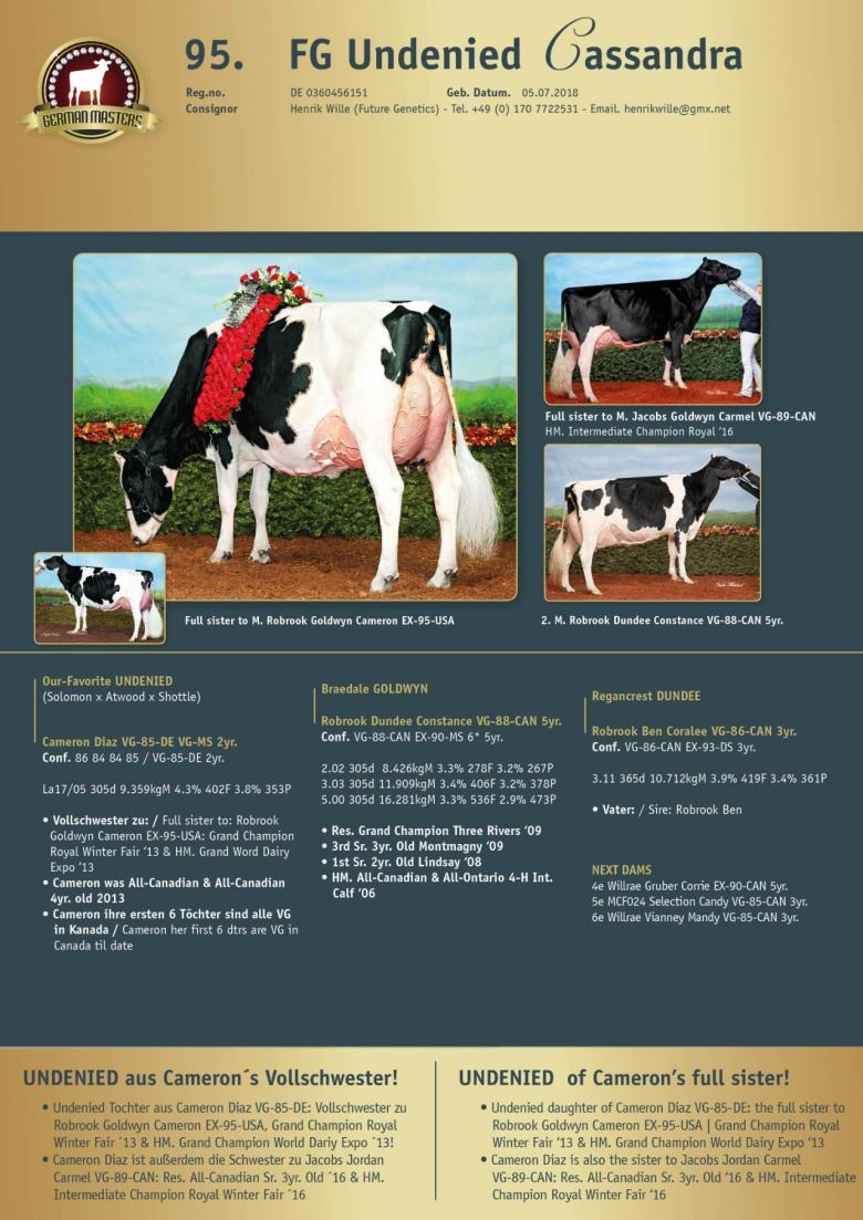 Datasheet for Lot 95. FG Undenied Cassandra | Out of sale